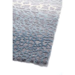 Χαλί Γαλάζιο - Γκρι με Ανάγλυφο Σχέδιο