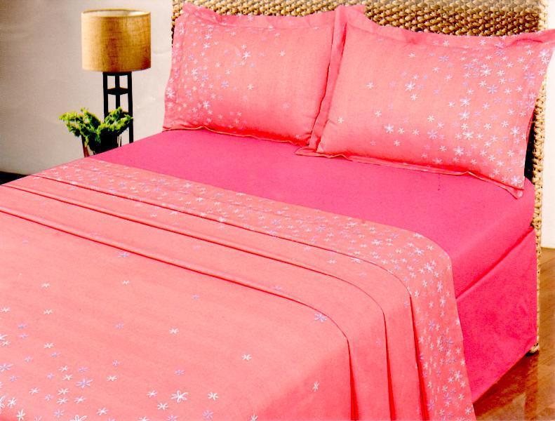 Σετ παπλώματος, διπλό, 100% βαμβακερό. Σε ροζ χρωματισμούς, από την Palamaiki