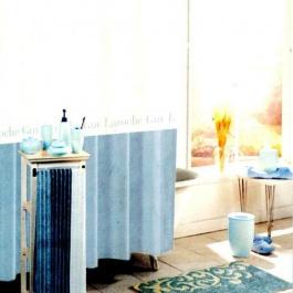 Υφασμάτινη κουρτίνα μπάνιου Guy Laroche, με trucks και μαγνήτες, σε γαλάζιο χρωματισμό