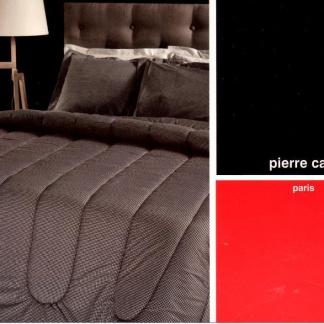Pierre Cardin Παπλωματοθήκη Καφέ - Μονή AD2 160*240