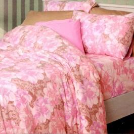 Ημίδιπλα σεντόνια Palamaiki, 100% βαμβακερά. Σετ τριών τεμαχίων σε ροζ χρώμα