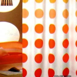 Υφασμάτινη κουρτίνα μπάνιου, λευκό - πορτοκαλί