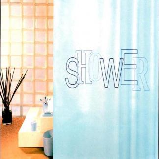 Υφασμάτινη κουρτίνα μπάνιου σιέλ
