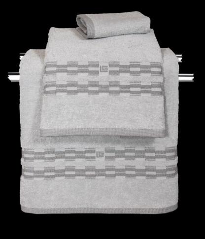 Πετσέτες Μπάνιου Ανοιχτό Γκρι Βαμβακερές