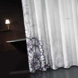 Κουρτίνα Μπάνιου Με Γκρι Σχέδιο