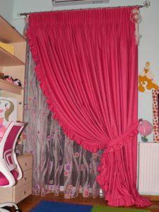 Διπλή κουρτίνα με κοριτσίστικο ύφος για το παιδικό δωμάτιο - κουρτινόξυλο Guy Laroche