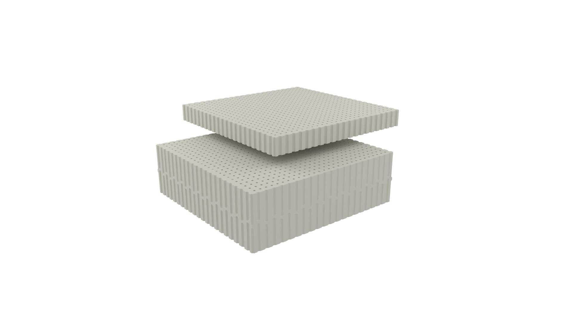 Dunlopillo Στρώμα Belvista, ανατομικό στρώμα ύπνου, ύψους 21cm, μέτριο,από 100% φυσικό Τalalay Latex