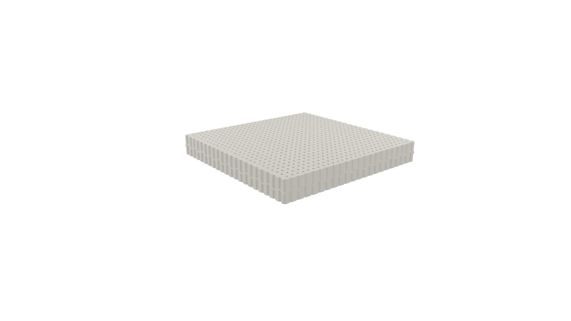 Dunlopillo Ανώστρωμα Τop Ivory, ύψους 7cm, μέτριο, από 100% φυσικό Τalalay Latex