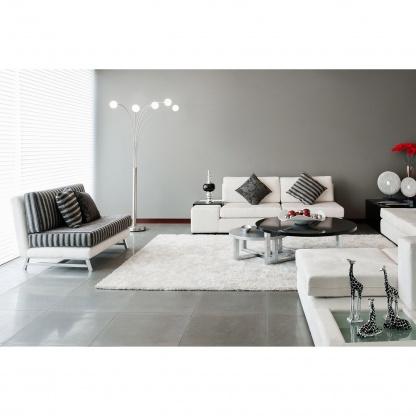 Λευκό Χαλί Shaggy Colore Colori Lima 10133/62