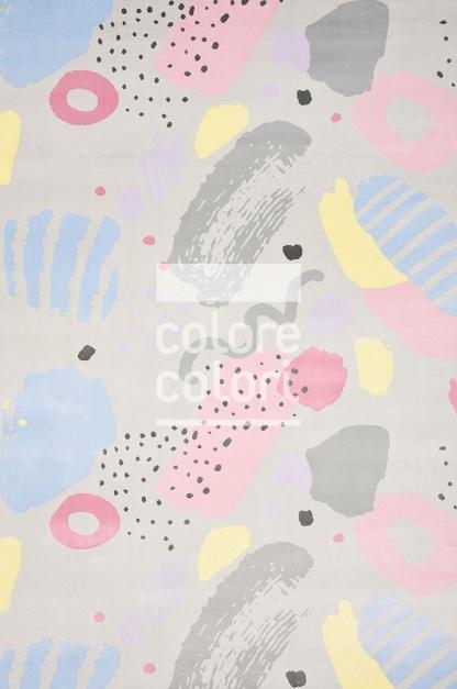 Γκρι Ροζ Παιδικό Χαλί Colore Colori Healthy Kiddie 7570