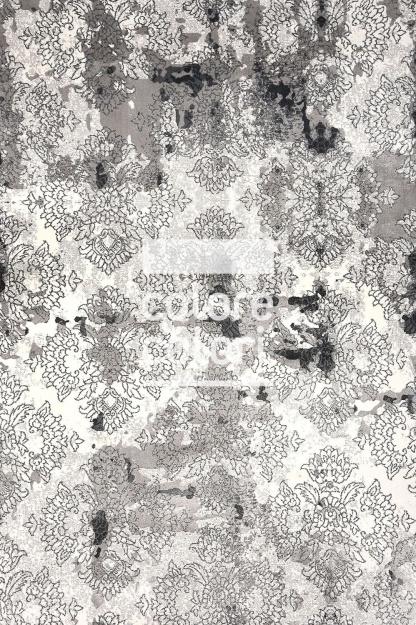 Vintage Χαλί Γκρι με Σχέδιο Grey Art 6009