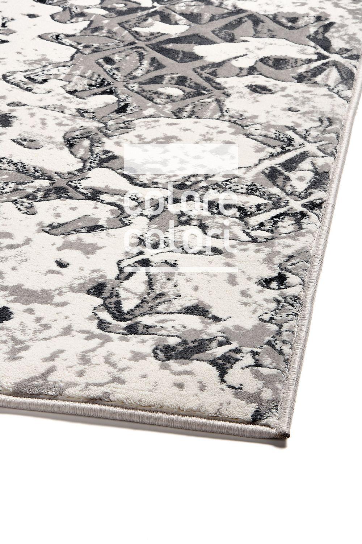 Γκρι χαλί με σχέδιο Colore Colori Grey Art 7301