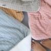 Κουβερτοπάπλωμα Palamaiki Cube Pink Υπέρδιπλο, 100% flannel fleece, λευκή sherpa