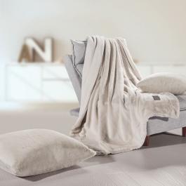 Διακοσμητικό Γούνινο Ριχτάρι Fox Beige Guy Laroche 130x170 μαζί με μαξιλάρι