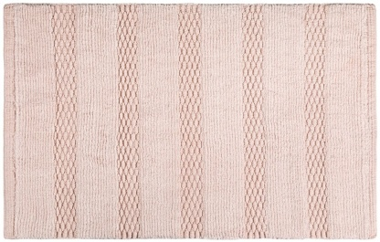 Πατάκι Μπάνιου Rocco Old Pink της Guy Laroche 100% βαμβάκι ροζ παστέλ με ανάγλυφο σχέδιο