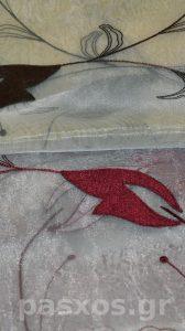 Οργάντζα (οργαντίνα, ύφασμα, με κέντημα, δειγματολόγιο για κουρτίνες)