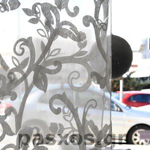 Οργάντζα (οργαντίνα) ντεβορέ, διαφάνεια υφάσματος, δείγμα κουρτίνας ΠΑΣΧΟΣ