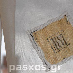 Οργάντζα (ύφασμα οργαντίνα) ντεβορέ, λεπτομέρεια ύφανσης
