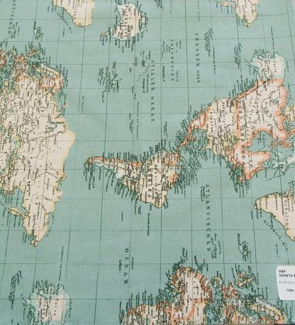Ύφασμα Λονέτα Ισπανίας, Παγκόσμιος Χάρτης