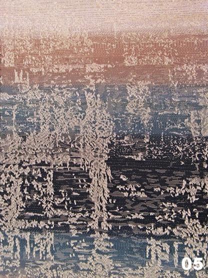Ζακάρ Γκρι - Μπλε Ύφασμα Κουρτίνας Falko05