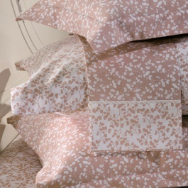 Σεντόνια DownTown Λευκό - Ροζ Φλοράλ Σχέδιο 725