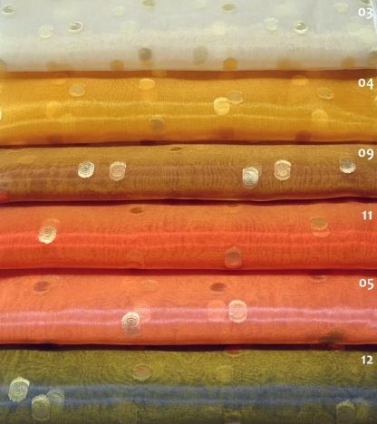 Οργαντίνα Φλούο με Λαμπερό Σχέδιο 20027