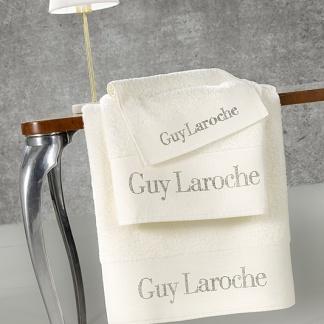 Εκρού βαμβακερές πετσέτες Guy Laroche Futura Ivory