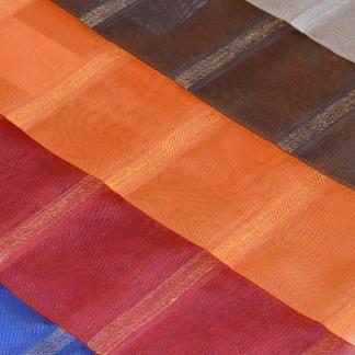 Χρωματιστή Ημιδιάφανη Οργαντίνα Κουρτίνας με Κάθετη Ρίγα - Haima Pasxos