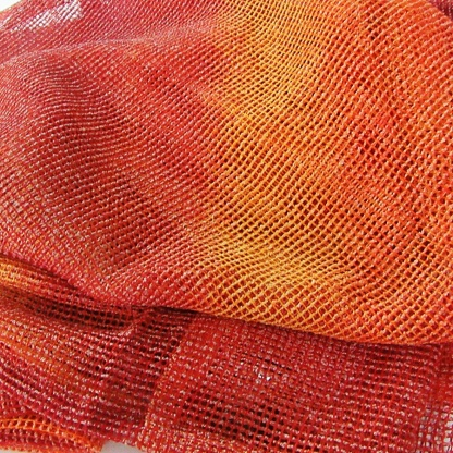 Μοντέρνο Δίχτυ για Κουρτίνες Πορτοκαλί - Κόκκινο Ocean