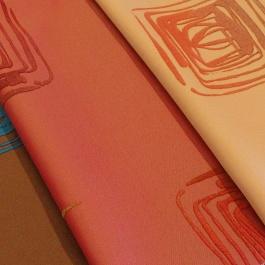 Χρωματιστό Ύφασμα Κουρτίνας με Μοντέρνο Γραμμικό Σχέδιο