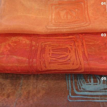 Μοντέρνα Οργαντίνα για Κουρτίνα με Γραμμικό Σχέδιο