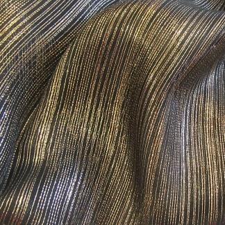 Εντυπωσιακή Οργαντίνα Μαύρο - Χρυσό Για Κουρτίνες