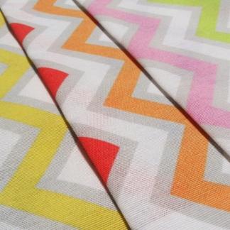 Μοντέρνο Χρωματιστό Ύφασμα Λονέτα Lupe με Γεωμετρικά Σχέδια