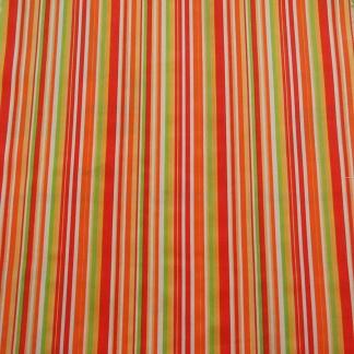 Ριγέ Πορτοκαλό Ύφασμα για Παιδικές Κουρτίνες