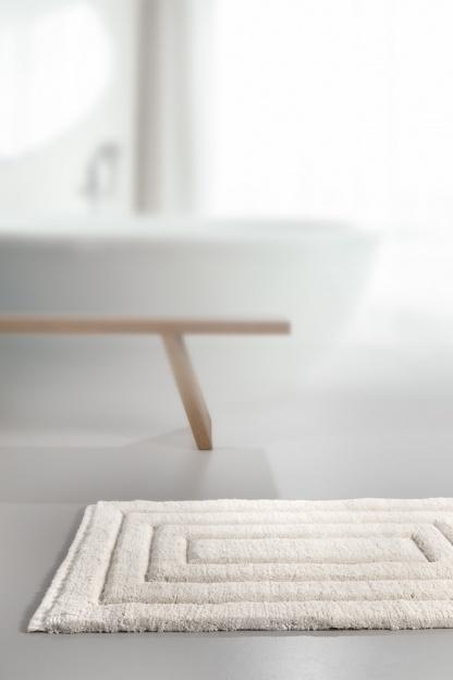 Άσπρό Χαλάκι για το Μπάνιο, με Σχέδιο - Guy Laroche Ottawa Ice