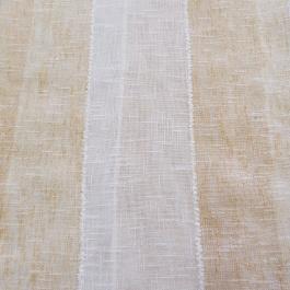 Λινό Ύφασμα Λευκό - Μπεζ