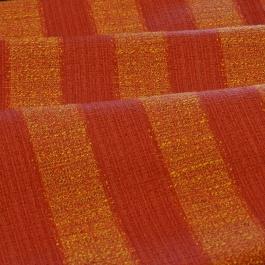 Πορτοκαλοκόκκινο Ριγέ Ύφασμα για Ριχτάρια και Καλύμματα