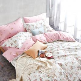 Ροζ βαμβακερά σεντόνια Παλαμαική Μονά