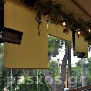 Ρόλερ σε εστιατόριο (ΧΗΜΑ) - Ρυθμίσεις σκίασης - Κατασκευή και τοποθέτηση Πάσχος.