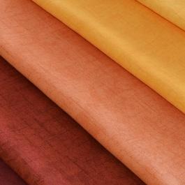 Πορτοκαλί Βαμβακοσατέν για Μονόχρωμη Κουρτίνα