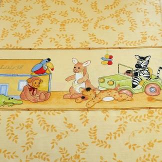 Κουρτίνα παιδικού δωματίου με ζωάκια