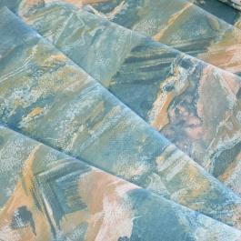 Γαλάζιο Ύφασμα Κουρτίνας