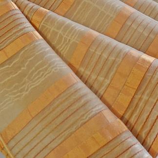 Οργαντίνα Κουρτίνα με Χρυσή Ρίγα Cuarzo2