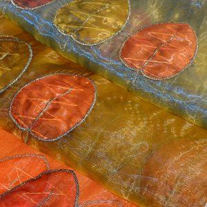 Εντυπωσιακό Ύφασμα Κουρτίνας με Φύλλα
