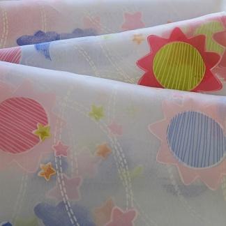 Ροζ Ύφασμα για Παιδικές Κουρτίνες με Σχέδια