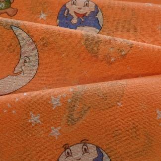 Θεματική Κουρτίνα για Παιδικό Δωμάτιο Πορτοκαλί