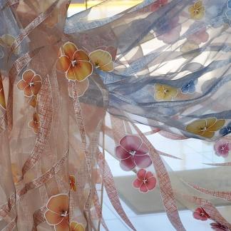 Διάφανη Οργαντίνα με Χρωματιστά Λουλούδια