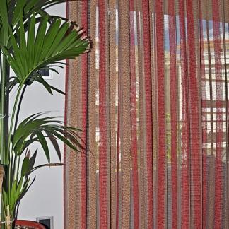 Κουρτίνα Καθιστικού Καφεκόκκινη - Pasxos