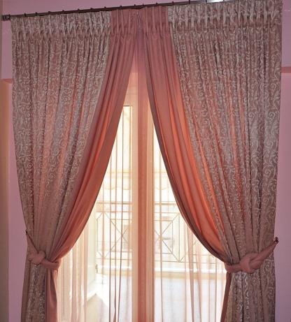 Ροζ Ρομαντική Κουρτίνα Evina - Pasxos
