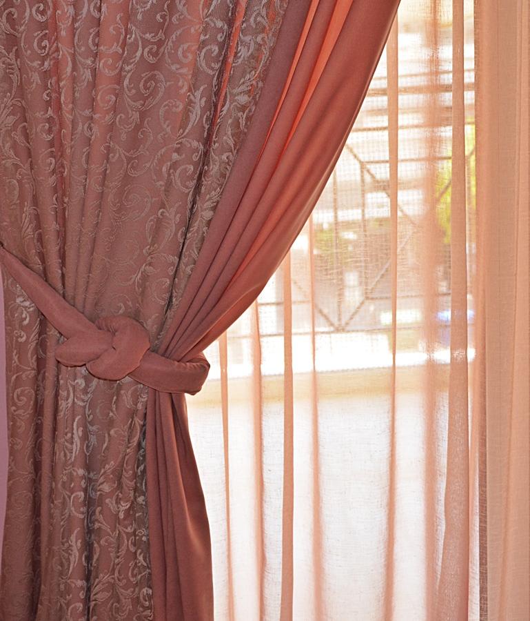 Ρομαντική Δαντελένια Κουρτίνα Evina